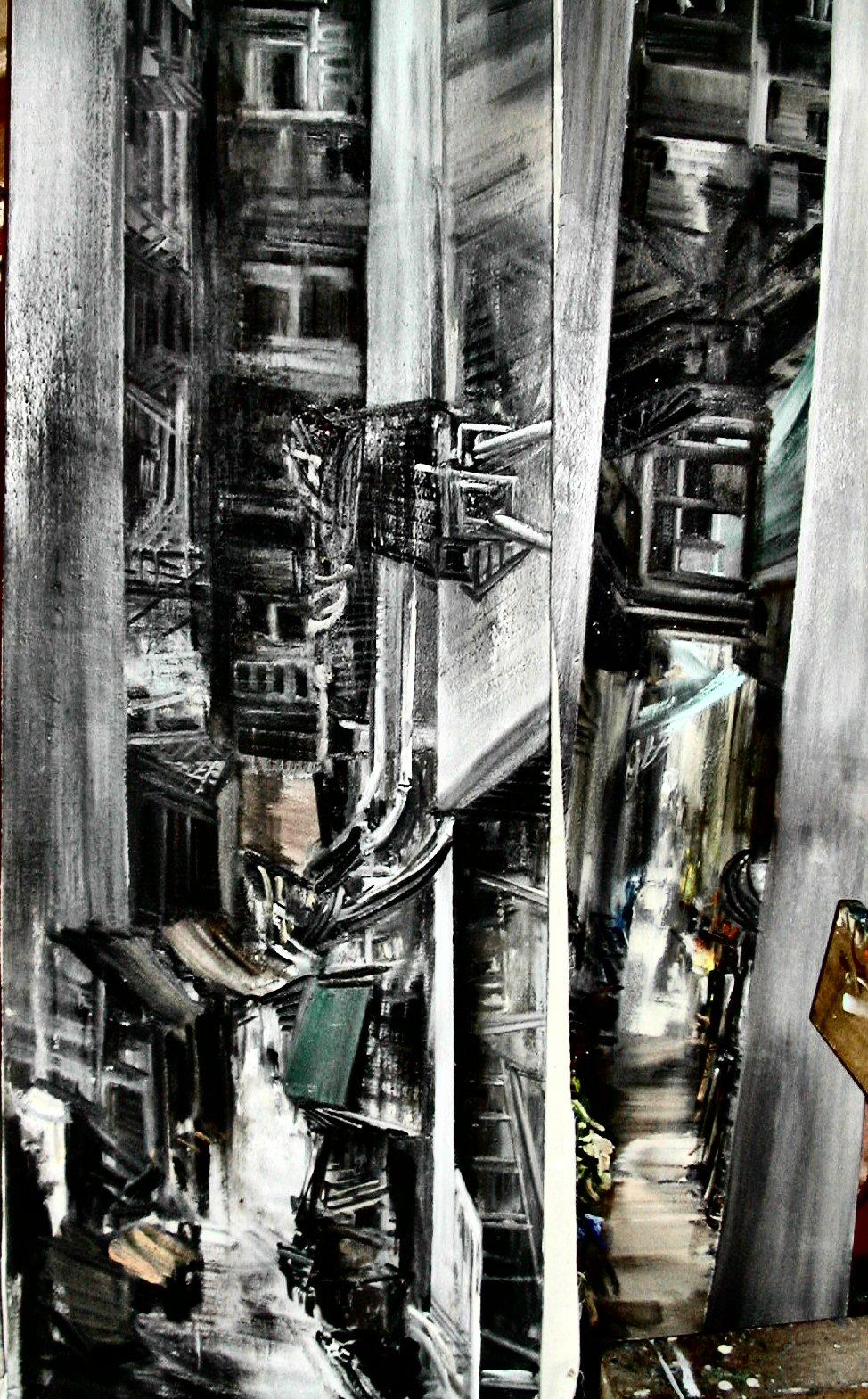 27_blocchi a hong kong_olio su tela cm 60x230
