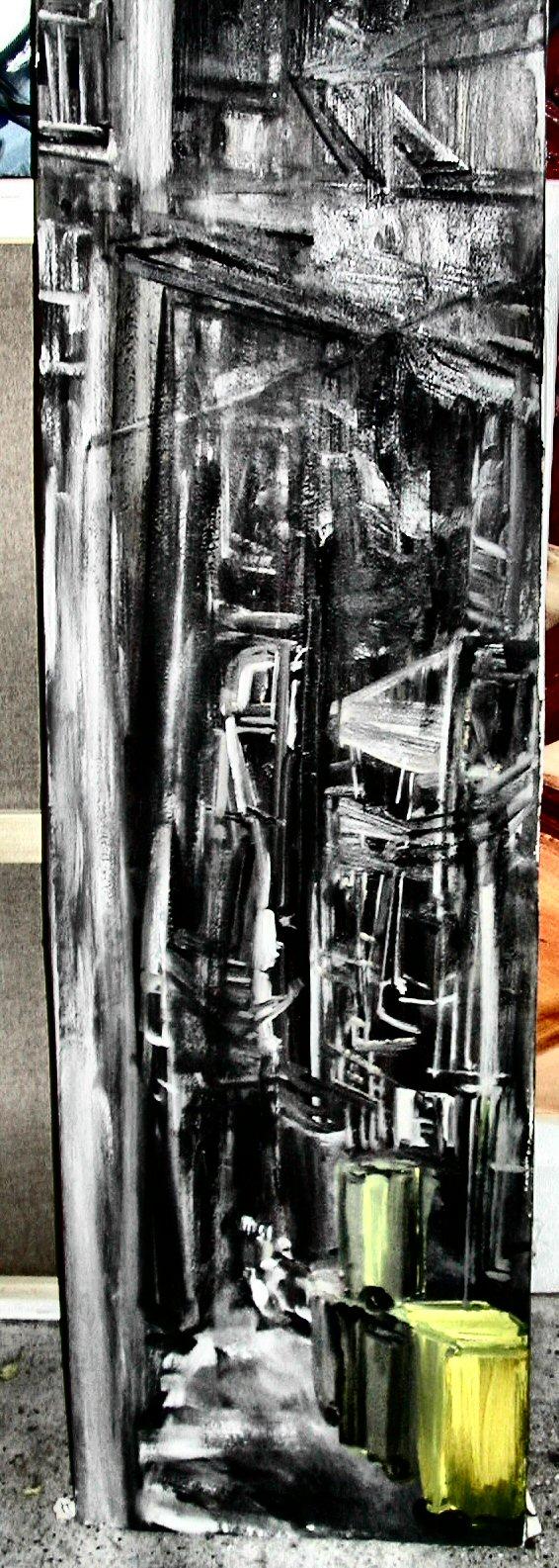 28_blocco a hong kong_olio su tela cm 60x230