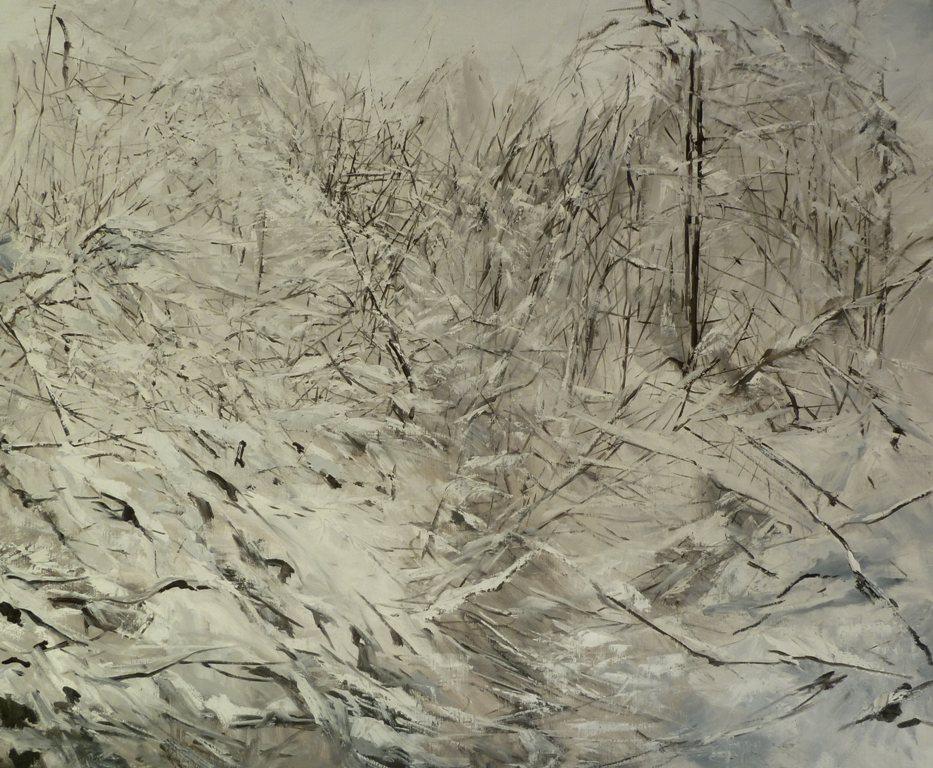 39_nevicata_ olio su tela cm 115_5x 95_5