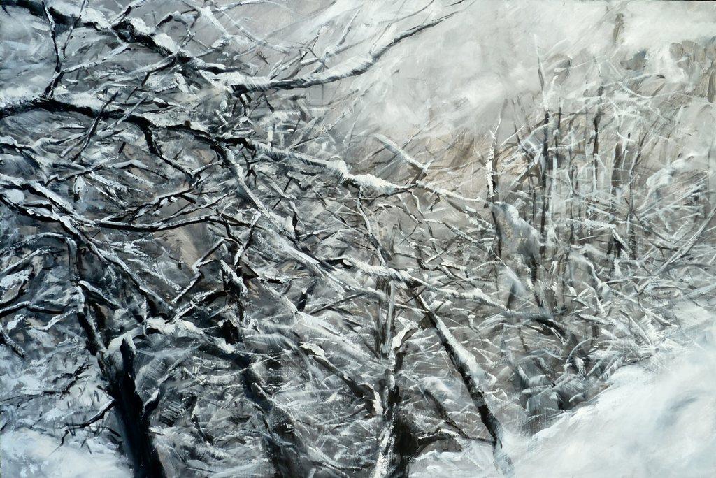 40_nevicata_olio su tela cm 110x75