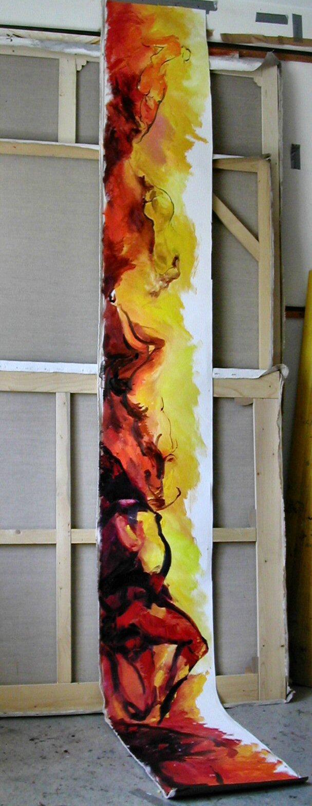 50_figure_olio su tela cm 350 x 55